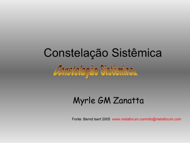 ConstelaçãO SistêMica