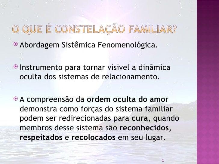 Constelação Familiar - Rodrigo da Costa Rocha - 05/2012 Slide 2