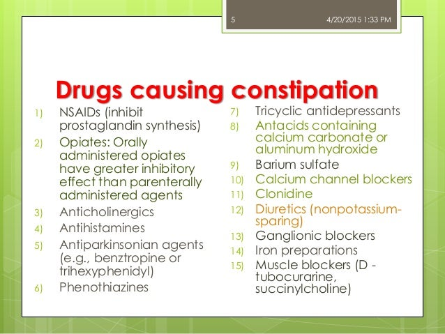 what to do when antidepressants cause constipation