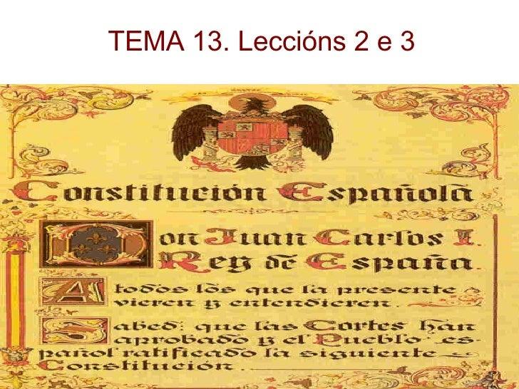 TEMA 13. Leccións 2 e 3