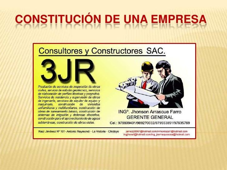 CONSULTORA Y CONSTRUCTORA 3JR SAC Slide 2
