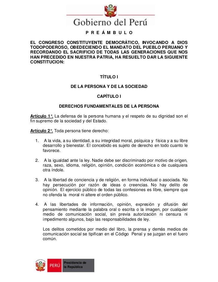 P R E Á M B U L OEL CONGRESO CONSTITUYENTE DEMOCRÁTICO, INVOCANDO A DIOSTODOPODEROSO, OBEDECIENDO EL MANDATO DEL PUEBLO PE...
