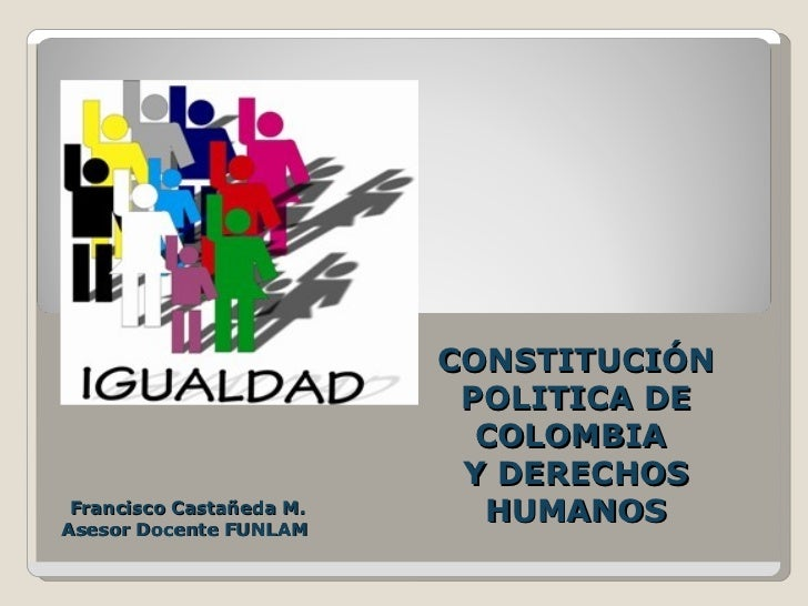 CONSTITUCIÓN                           POLITICA DE                            COLOMBIA                           Y DERECHO...