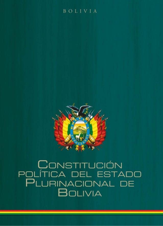 Constitución política del estado de Plurinacional de Bolivia