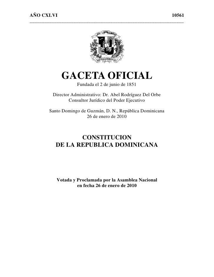 Constitucion 2010