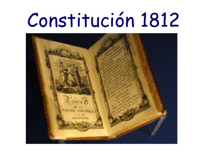 Resultado de imagen de Constitución 1812