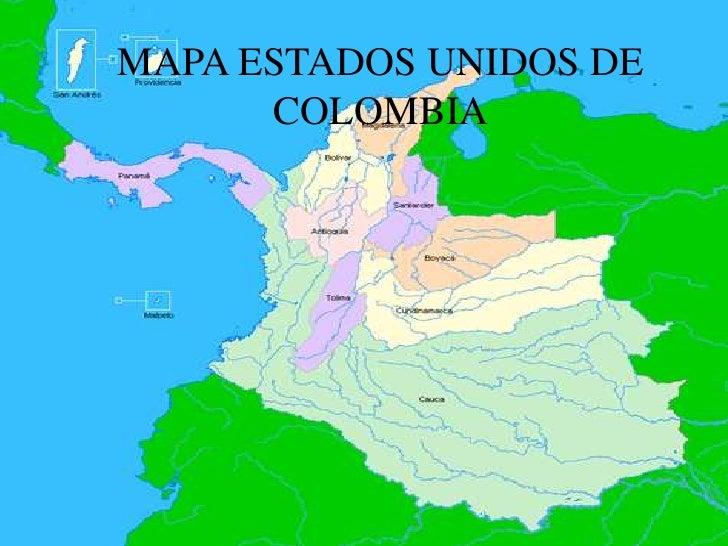 Mapa Politico Estados Unidos De Colombia.1 Grado 9 Los Estados Unidos De Colombia Lessons Tes