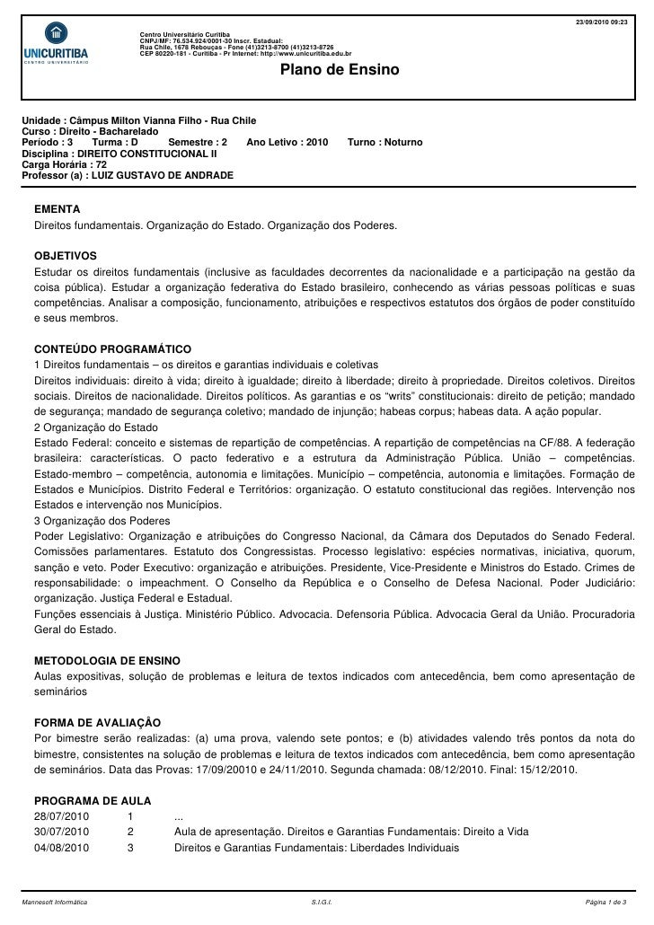 23/09/2010 09:23                           Centro Universitário Curitiba                           CNPJ/MF: 76.534.924/000...