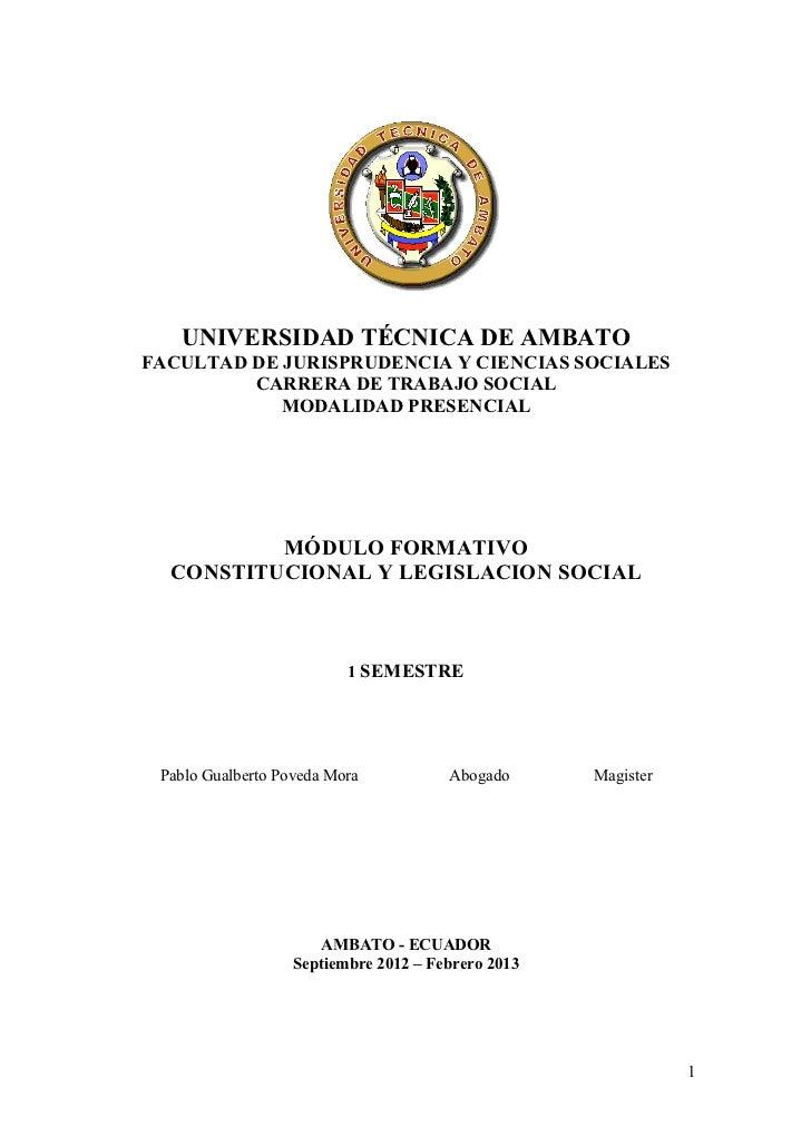 UNIVERSIDAD TÉCNICA DE AMBATOFACULTAD DE JURISPRUDENCIA Y CIENCIAS SOCIALES         CARRERA DE TRABAJO SOCIAL            M...