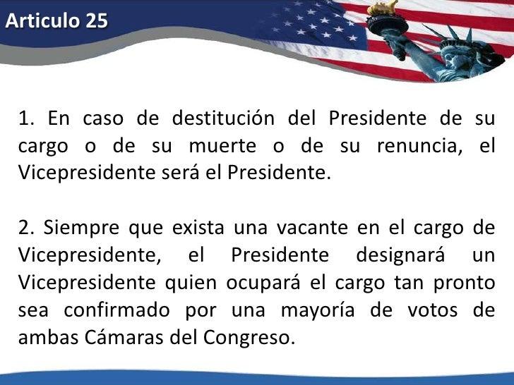Articulo 20<br />3. Si en la fecha en que el presidente haya de empezar a desempeñar su cargo, el presidente electo hubier...