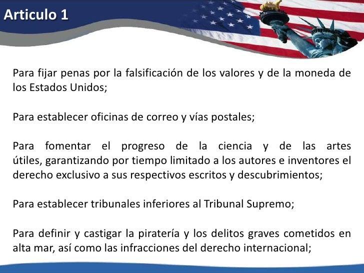 Articulo 1<br />Para fijar penas por la falsificación de los valores y de la moneda de los Estados Unidos; <br />Para esta...