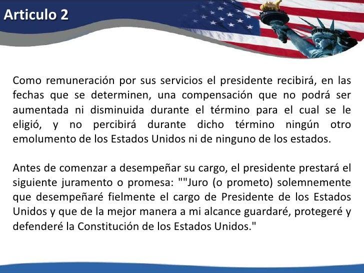 Articulo 2<br />Como remuneración por sus servicios el presidente recibirá, en las fechas que se determinen, una compensac...