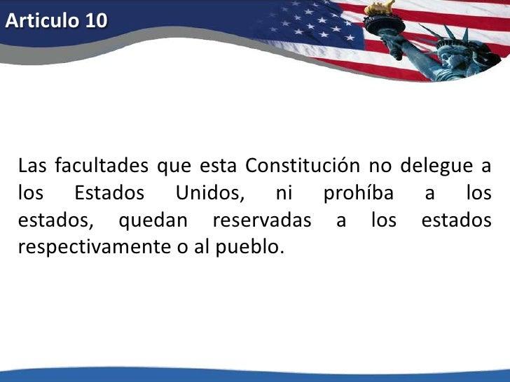Enmienda XXVI: Julio 5, 1971.</li></li></ul><li>Articulo 1<br />El Congreso no aprobará ninguna ley con respecto al establ...