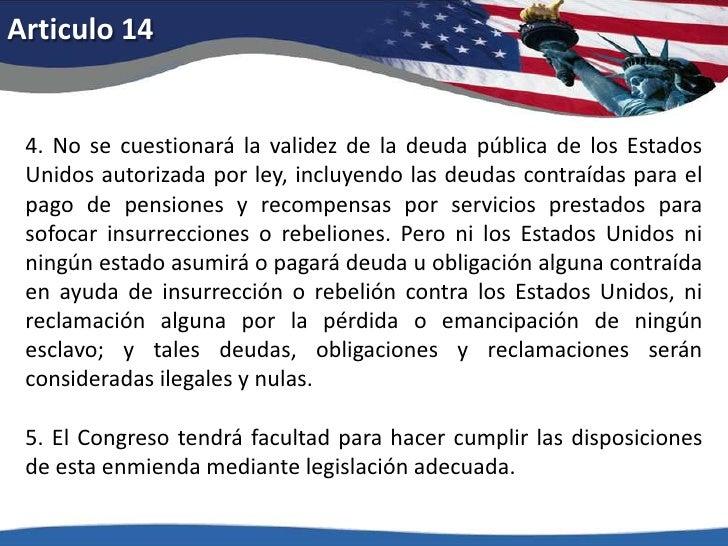 Articulo 11<br />El poder judicial de los Estados Unidos no será interpretado en el sentido de extenderse a los litigios e...