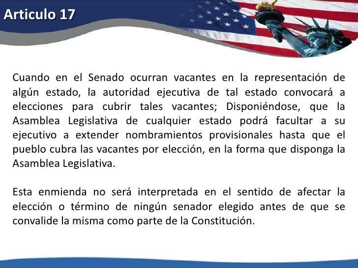 Articulo 12<br />A este fin el quórum consistirá de las dos terceras partes del número total de senadores, requiriéndose l...