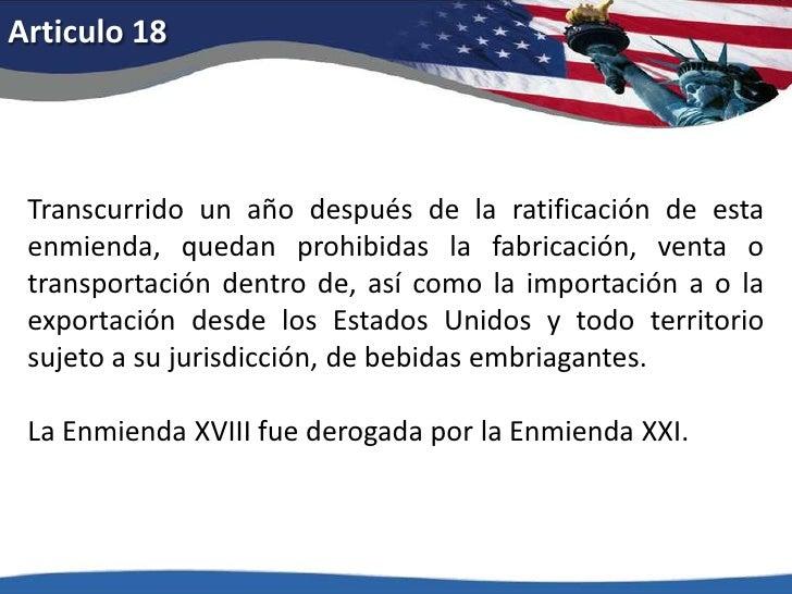 Articulo 13<br />1.Ni la esclavitud ni la servidumbre involuntaria existirán en los Estados Unidos o en cualquier lugar su...