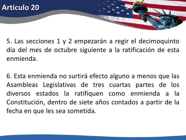 Articulo 15<br />1.Ni los Estados Unidos ni ningún estado de la Unión negará o coartará a los ciudadanos de los Estados Un...
