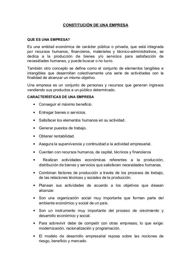 Constitucion De Una Empresa Constructora En El Peru