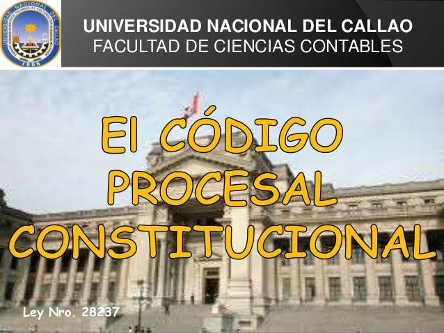UNIVERSIDAD NACIONAL DEL CALLAO FACULTAD DE CIENCIAS CONTABLES Ley Nro. 28237