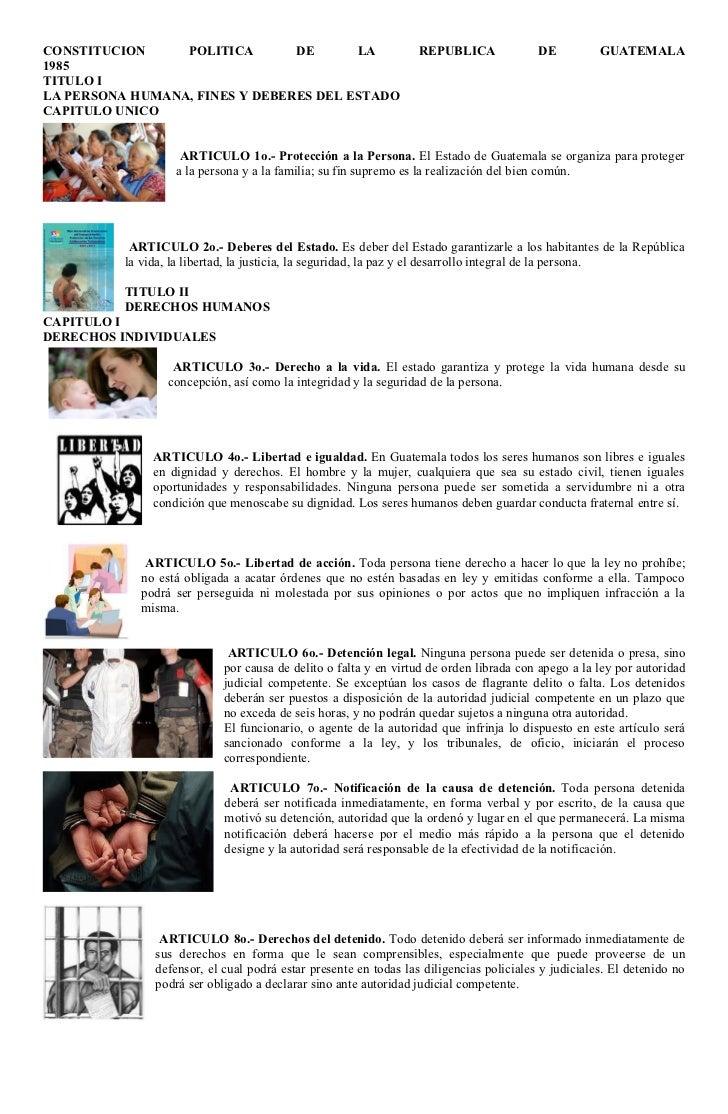 CONSTITUCION     POLITICA       DE      LA                        REPUBLICA              DE          GUATEMALA1985TITULO I...