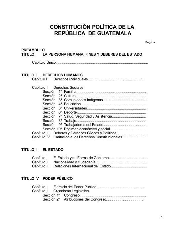 Constitucion Politica De La Republica De Guatemala 1