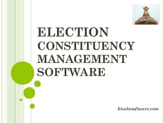 ELECTION CONSTITUENCY MANAGEMENT SOFTWARE Enukesoftware.com
