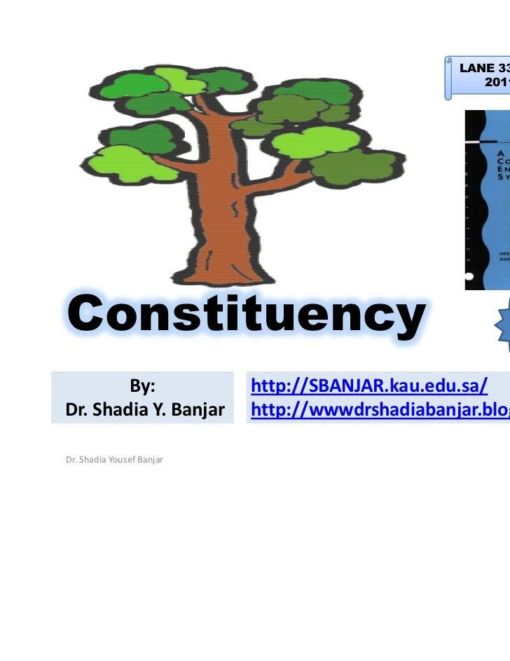 LANE 334 -EA: Syntax                                                    2011 – Term 2Constituency                         ...