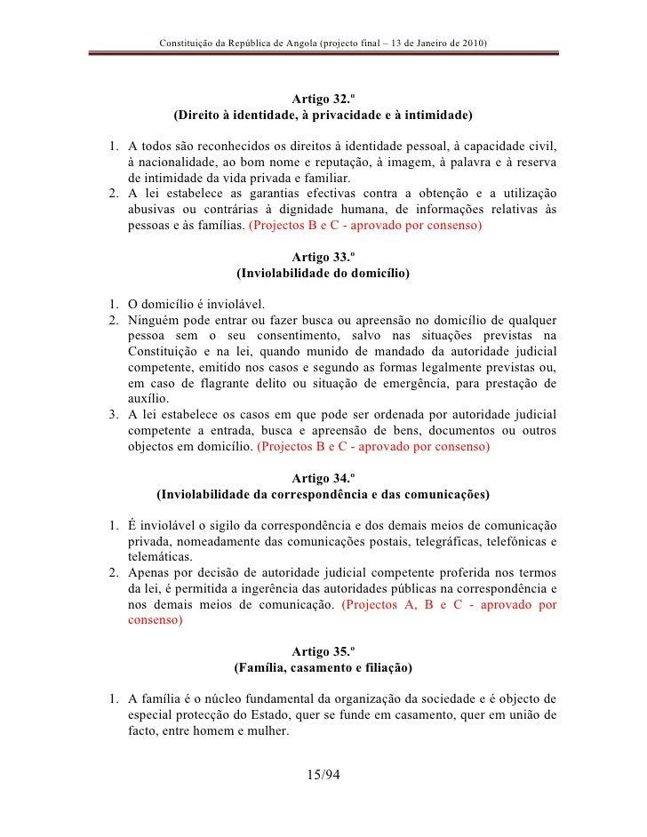 Artigo 15 da constituicao