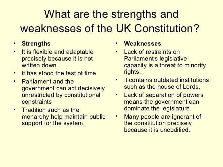 strengths and weaknesses of the parliament The classical paradigm of parliamentary democracy consists of an elected representative parliament which the strengths and weaknesses of coalition government.