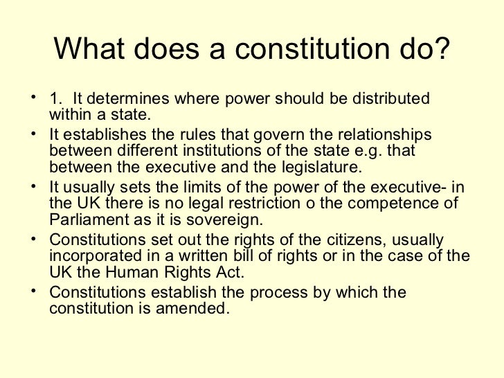 constitution  4 what does a constitution
