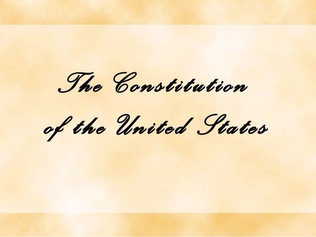 The Constitutionof the United States