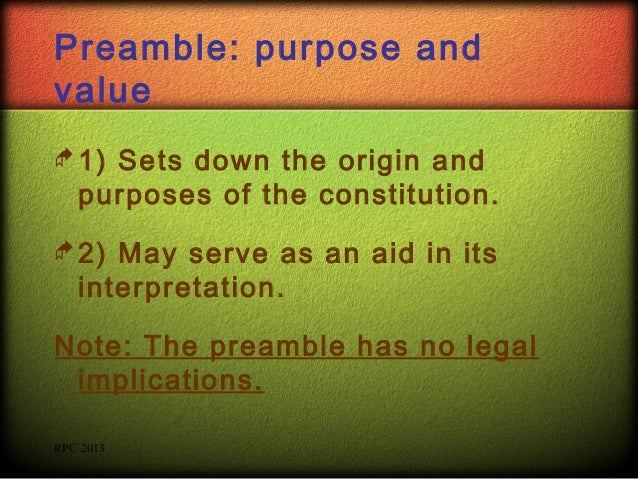 sovereignty and preamble By arti goyal, university of indian legal studies the preamble to the constitution of india records the aims and aspirations of the people of india which.