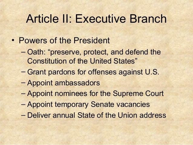 constitutional restraints on the executive powers A resource of american constitutional law from the law library of congress on such topics as: constitutional interpretation, executive privilege, war powers, war powers resolution, state secrets privilege, military tribunals and presidential inherent powers.