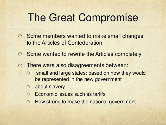 great compromise dbq essay Causes of the civil war dbq directions: the following question requires you to construct a coherent essay that integrates your [missouri compromise.