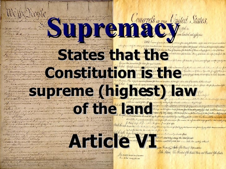 constitution supreme rules connected with all the acreage article