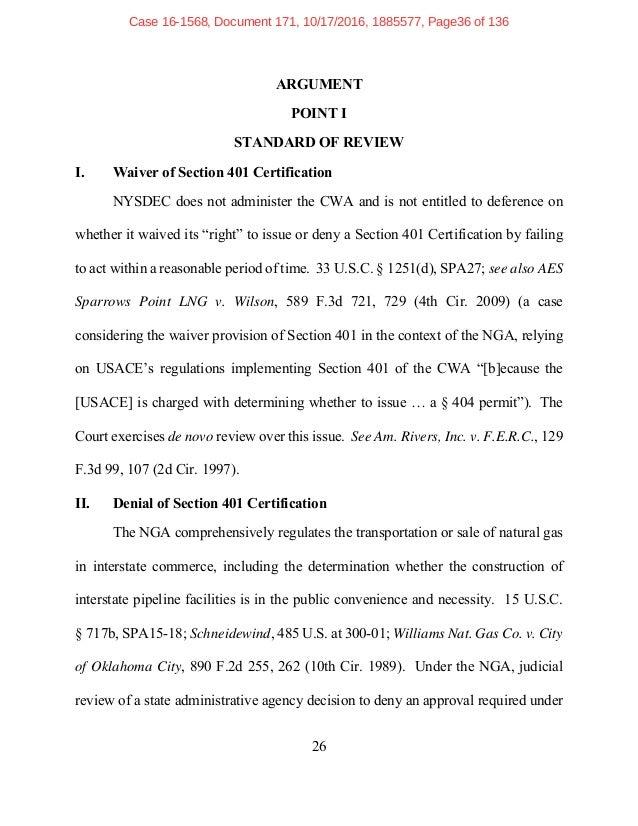 Brief: Constitution Pipeline v New York State DEC