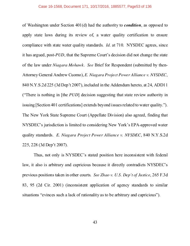 Brief Constitution Pipeline V New York State Dec