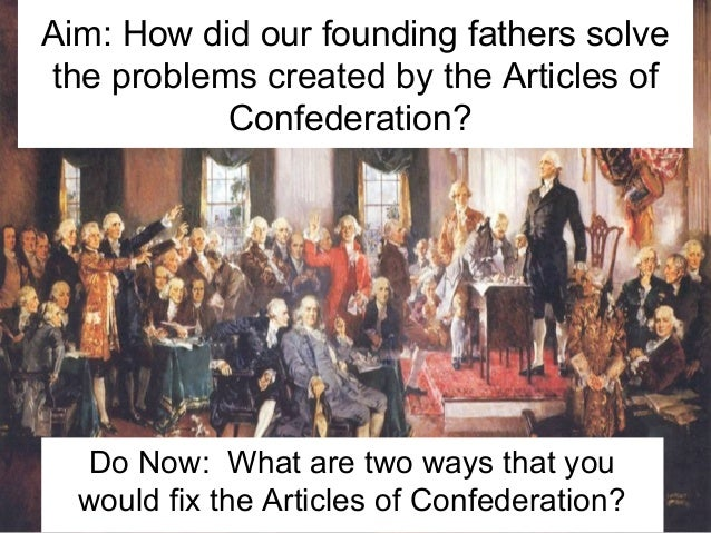 how did typically the constitution make improvements to via that articles or blog posts connected with confederation