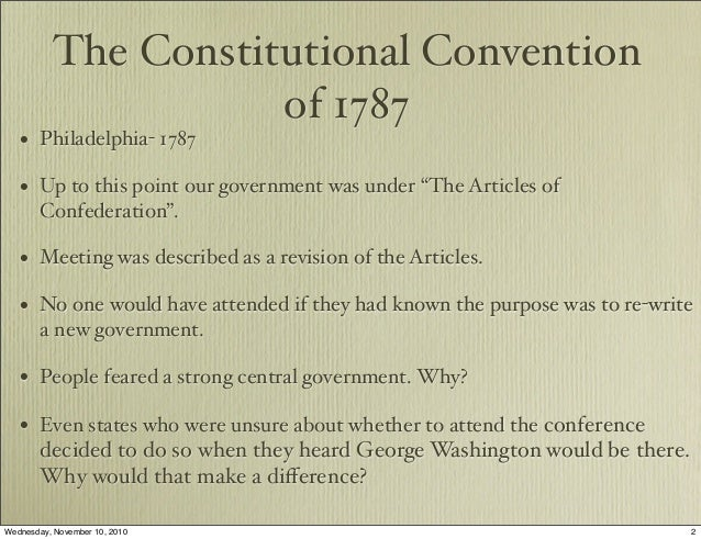 Constitutional convention 1787 essay