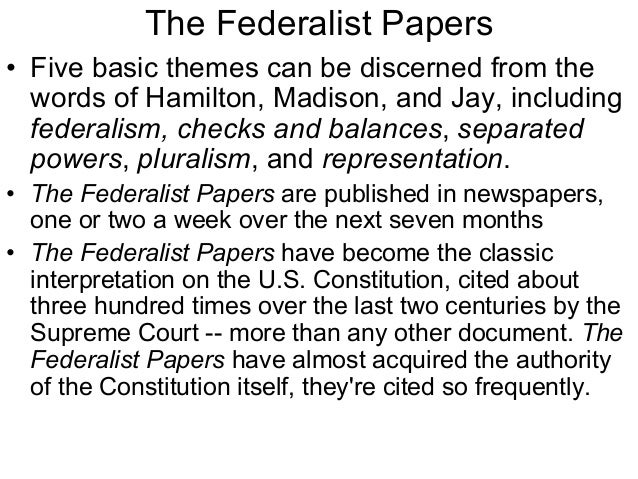 federalist paper 46 The federalist papers antifederalist papers declaration of independence rule of law latin maxims of law  the federalist no 46 the influence of the state and federal governments compared new york packet tuesday, january 29, 1788 [james madison] to the people of the state of new york: resuming the subject of the last paper, i proceed to.