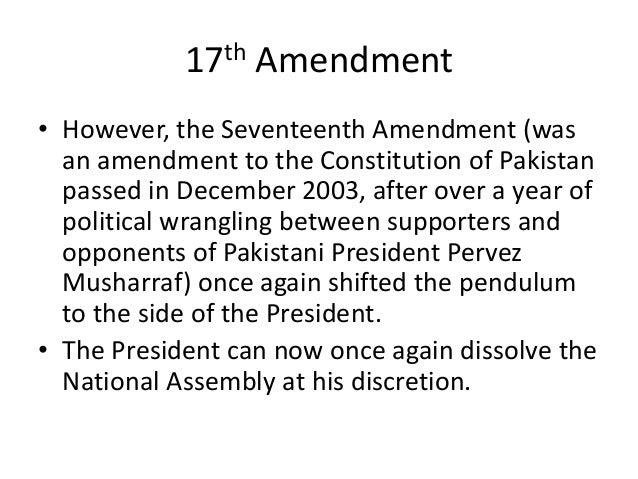 Constitutional Devolopment In Pakistan 1947 To 18th Amenment