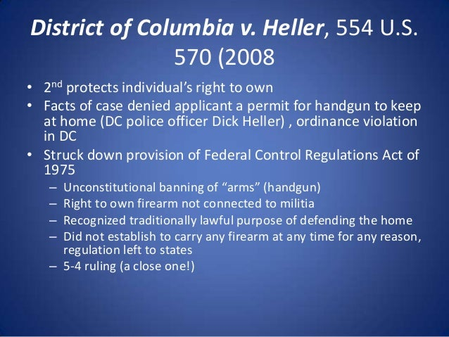 district of columbia v heller Heller v district of columbia, 45 f supp 3d at 40 (heller iii) largely upon the basis of their testimony, the district court entered summary judgment for the district on this appeal, heller argues the district court erred by.