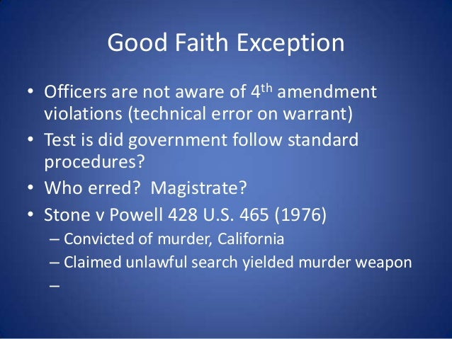 five exceptions to the exclusionary rule Marquette law review volume 79 issue 4summer 1996 article 8 exclusionary rule - good-faith exception: new limitations on the suppression of illegally obtained evidence - arizona v.