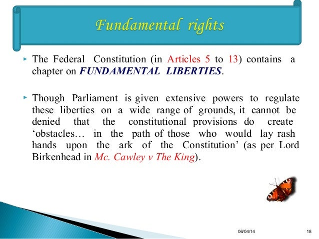 Constitutional Suprimacy Perspective Federal Constitution Of Malaysi