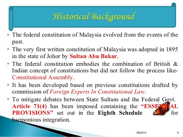 constitutional supremacy in malaysia Supremacy of the constitution  it can be seen that constitutional supremacy is the position of the constitution having the superior or greatest power or authority.
