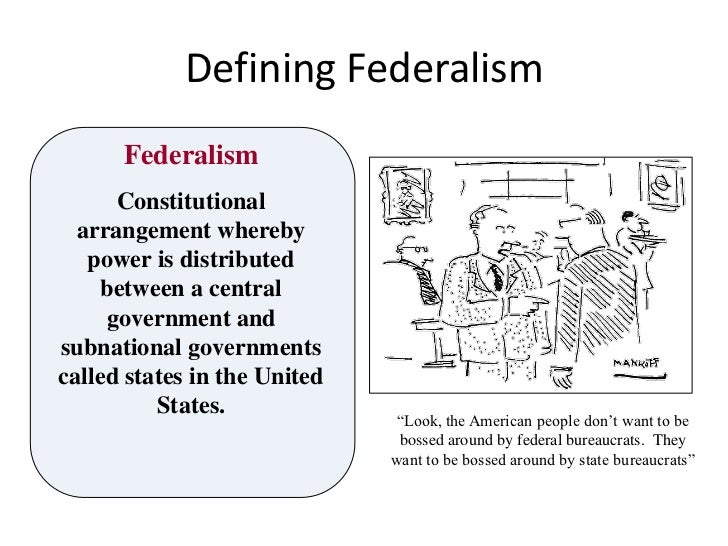 Constitution and federalism