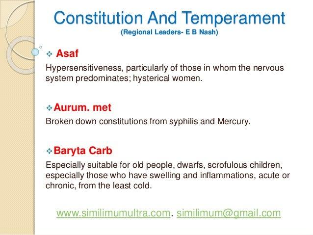 Constitution and Temperament Slideshow