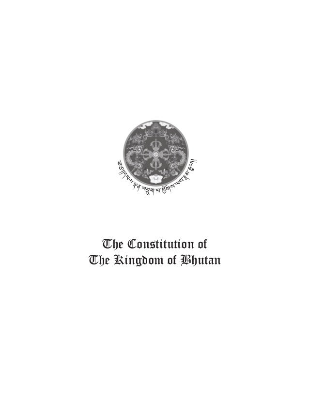 The Constitution of The Kingdom of Bhutan