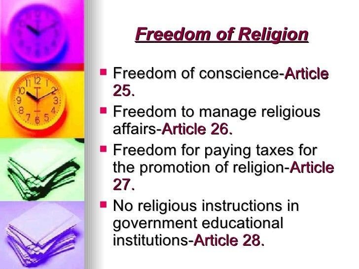 Articles related to the constitution and religion ...