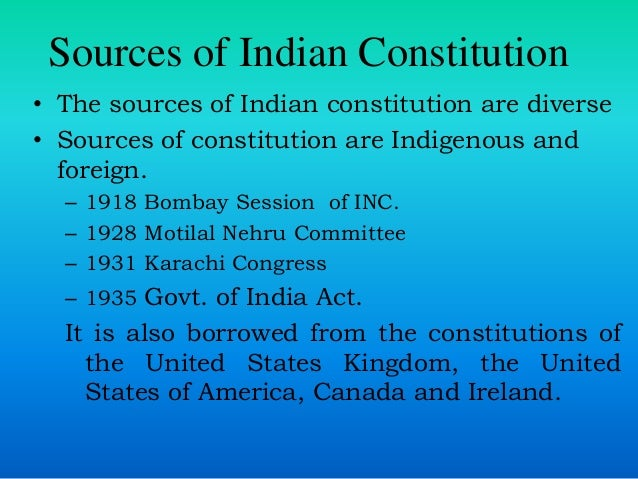 Indian Constitution Of India